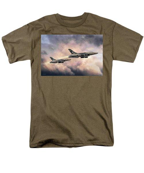Men's T-Shirt  (Regular Fit) featuring the digital art F-105 Thunderchief by Peter Chilelli