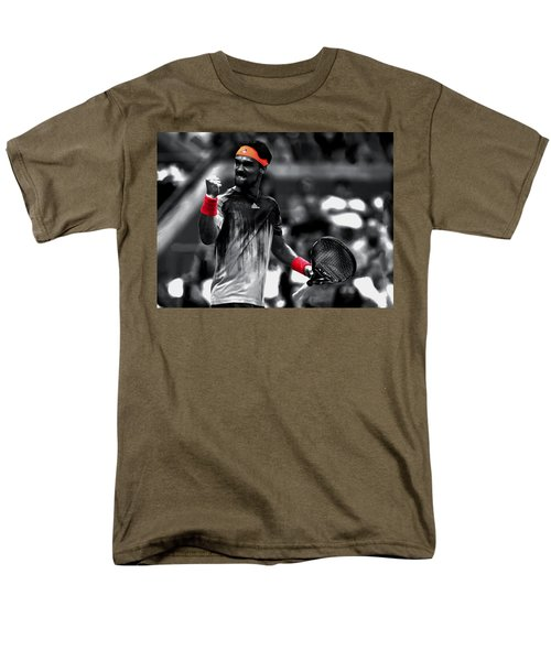 Fabio Fognini Men's T-Shirt  (Regular Fit) by Brian Reaves