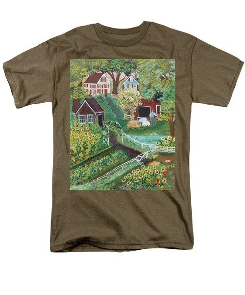 Fairview Farm Men's T-Shirt  (Regular Fit) by Virginia Coyle