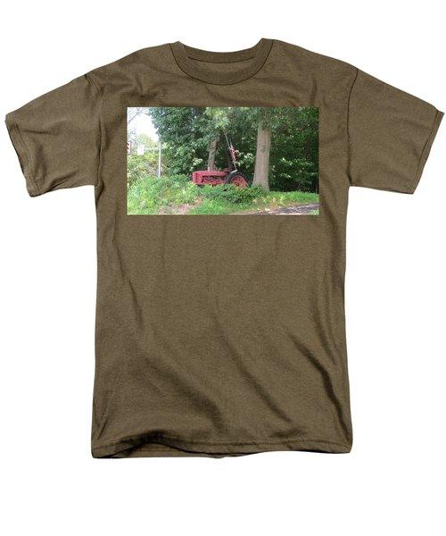 Faithful American Tractor Men's T-Shirt  (Regular Fit) by Jeanette Oberholtzer