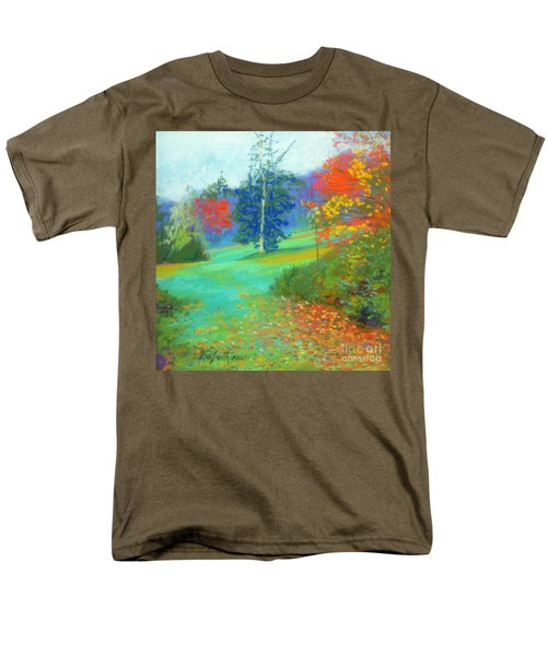 Fall Across The Field  Men's T-Shirt  (Regular Fit) by Rae  Smith PAC