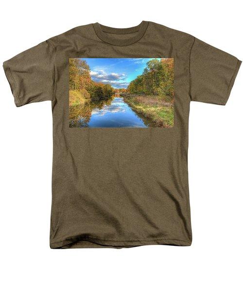 Fall At Brunswick Lake  Men's T-Shirt  (Regular Fit) by Brent Durken