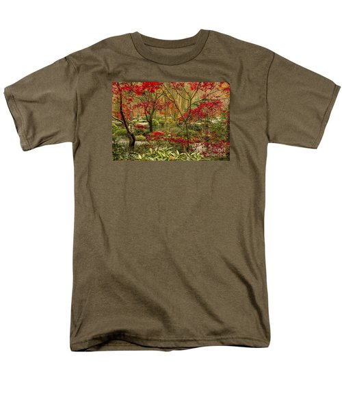 Fall Color In The Japanese Gardens Men's T-Shirt  (Regular Fit) by Barbara Bowen