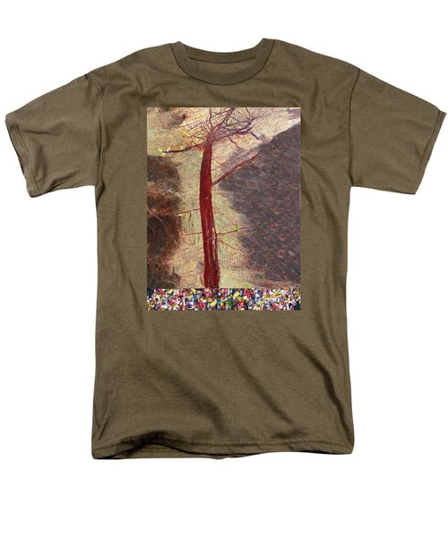Men's T-Shirt  (Regular Fit) featuring the painting Fall by Haleh Mahbod