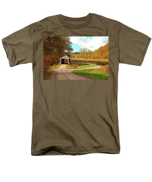 Men's T-Shirt  (Regular Fit) featuring the photograph Fall Harvest - Parke County by Harold Rau