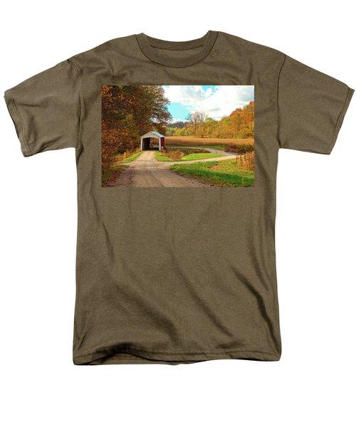 Fall Harvest - Parke County Men's T-Shirt  (Regular Fit) by Harold Rau