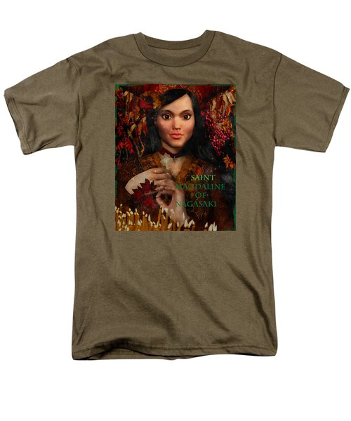 Men's T-Shirt  (Regular Fit) featuring the painting Fall Holidays Magdalene Of Nagasaki by Suzanne Silvir