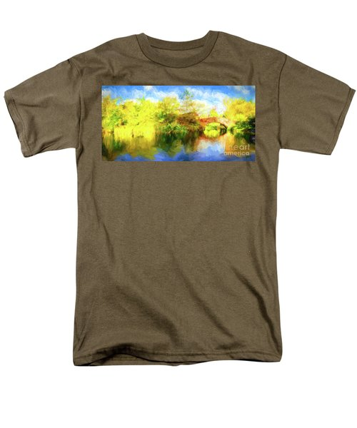 Men's T-Shirt  (Regular Fit) featuring the photograph Fall In Central Park by Jim  Hatch