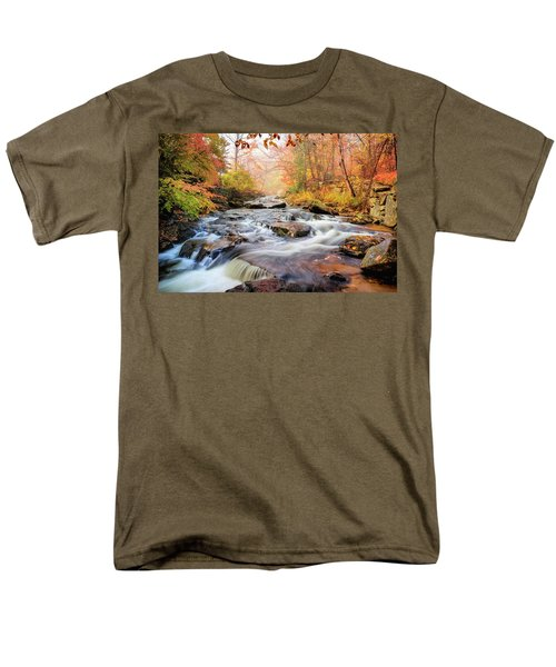 Fall Morning At Gunstock Brook Men's T-Shirt  (Regular Fit) by Robert Clifford