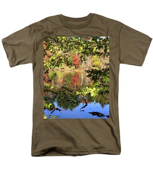 Fall Reflections Men's T-Shirt  (Regular Fit) by Nancy Landry