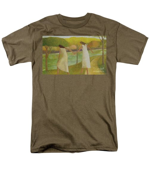 Men's T-Shirt  (Regular Fit) featuring the painting Fall River by Glenn Quist