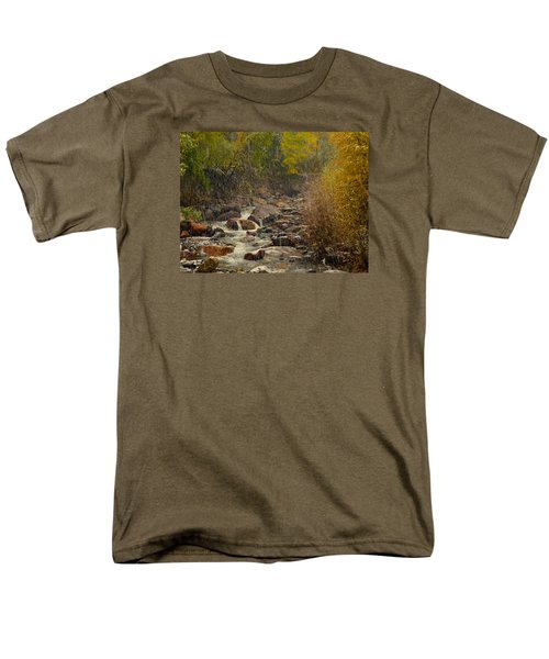 Men's T-Shirt  (Regular Fit) featuring the photograph Fall Snow Storm by Laura Ragland