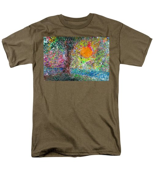 Men's T-Shirt  (Regular Fit) featuring the painting Fall Sun by Jacqueline Athmann