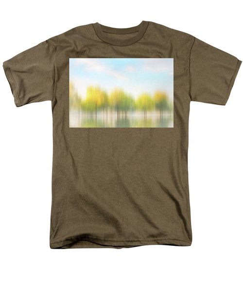 Fall Trees On Flooded Lake Men's T-Shirt  (Regular Fit) by Robert FERD Frank
