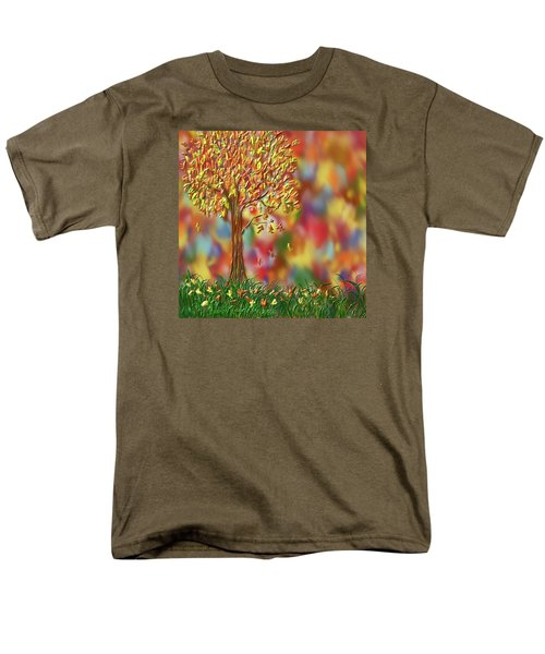 Falling Leaves Men's T-Shirt  (Regular Fit) by Kevin Caudill