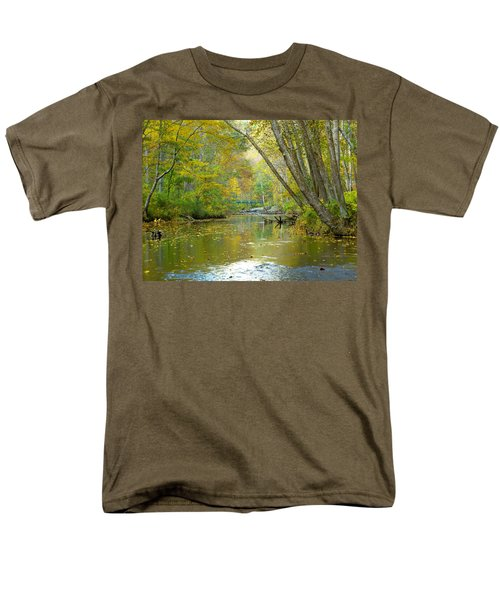 Men's T-Shirt  (Regular Fit) featuring the photograph Falls Road Bridge Over The Gunpowder Falls by Donald C Morgan