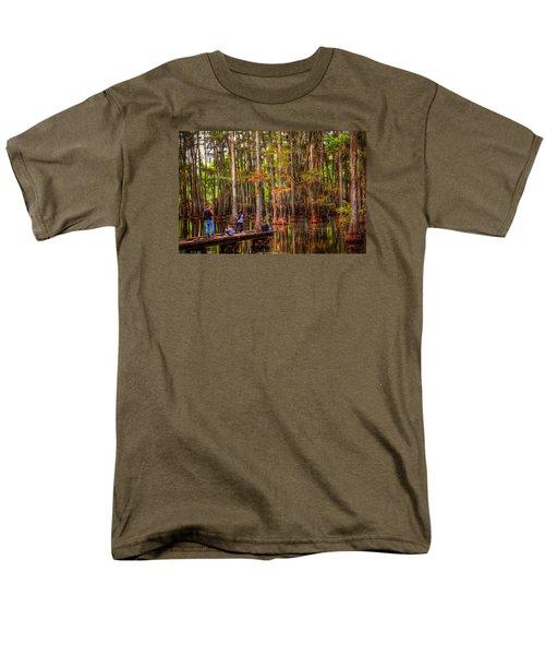 Family Bayou Fishing Men's T-Shirt  (Regular Fit) by Ester  Rogers