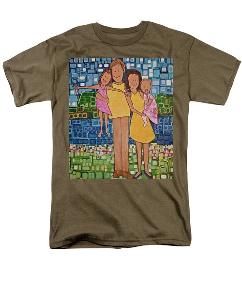 Men's T-Shirt  (Regular Fit) featuring the painting Family Of 4 by Donna Howard