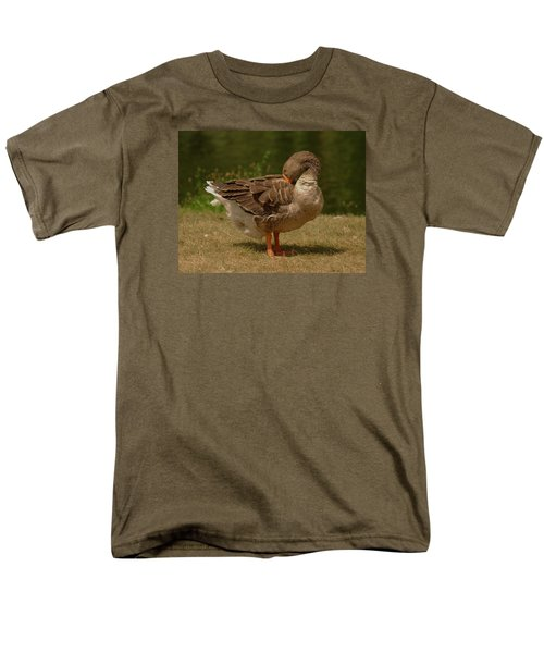 Men's T-Shirt  (Regular Fit) featuring the photograph Fancy Goose by Ramona Whiteaker