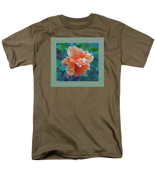Fancy Peach Hibiscus Men's T-Shirt  (Regular Fit) by Sandi OReilly