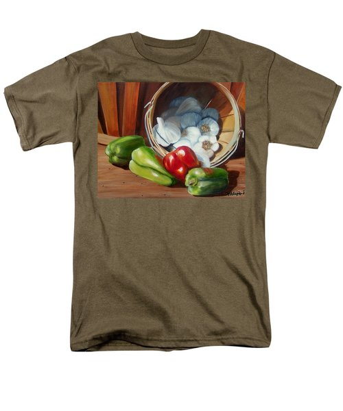 Men's T-Shirt  (Regular Fit) featuring the painting Farmers Market by Susan Dehlinger
