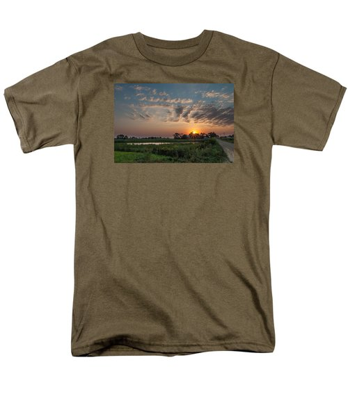 Farmstead Sunrise Men's T-Shirt  (Regular Fit) by Dan Traun