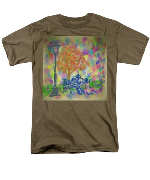 Men's T-Shirt  (Regular Fit) featuring the painting Feeding The Birds by Kevin Caudill