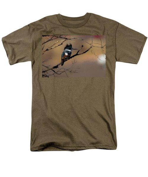 Female Belted Kingfisher Men's T-Shirt  (Regular Fit) by Ernie Echols