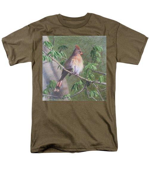 Female Cardinal Men's T-Shirt  (Regular Fit)