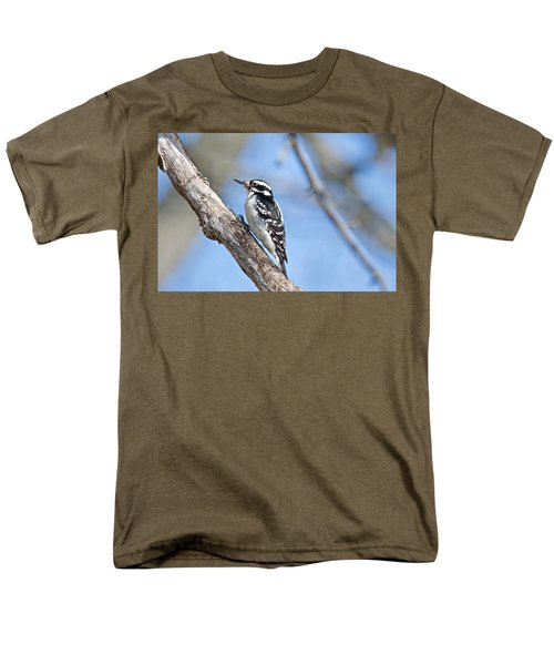 Men's T-Shirt  (Regular Fit) featuring the photograph Female Downey Woodpecker 1104  by Michael Peychich