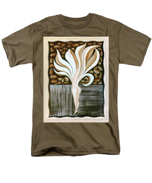Men's T-Shirt  (Regular Fit) featuring the painting Female Petal by Fei A