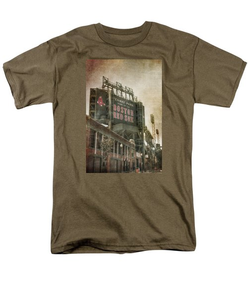 Fenway Park Billboard - Boston Red Sox Men's T-Shirt  (Regular Fit) by Joann Vitali
