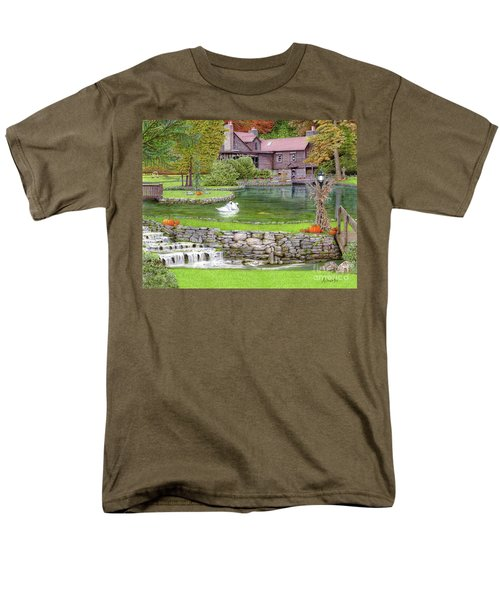 Men's T-Shirt  (Regular Fit) featuring the drawing Fin N Feather At Seven Springs by Albert Puskaric