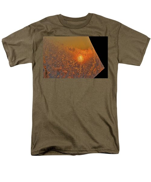 Men's T-Shirt  (Regular Fit) featuring the photograph Fire And Ice by Susan Capuano
