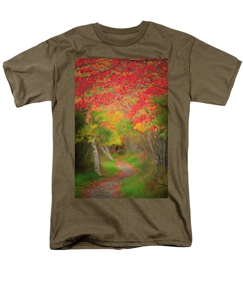 Men's T-Shirt  (Regular Fit) featuring the photograph Fire Red Path  by Emmanuel Panagiotakis