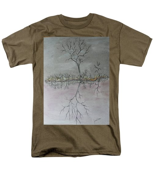 Men's T-Shirt  (Regular Fit) featuring the drawing First Frost by Jack G Brauer
