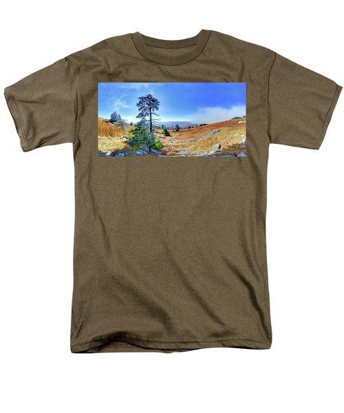 First Light Snow Men's T-Shirt  (Regular Fit) by George Randy Bass