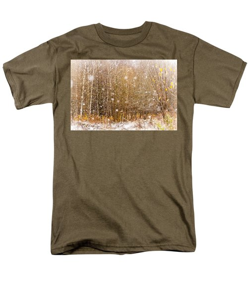 First Snow. Snow Flakes I Men's T-Shirt  (Regular Fit) by Jenny Rainbow