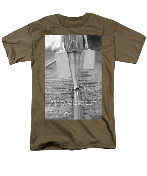 Men's T-Shirt  (Regular Fit) featuring the photograph First Step by Barbara West