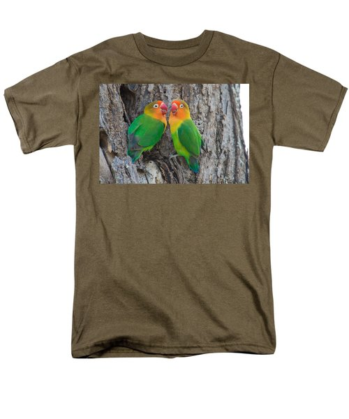 Fischers Lovebird Agapornis Fischeri Men's T-Shirt  (Regular Fit) by Panoramic Images