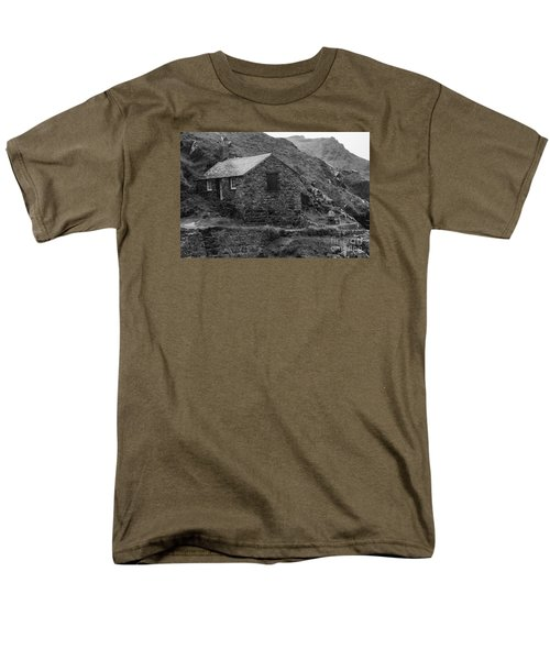 Men's T-Shirt  (Regular Fit) featuring the photograph Fishermans Net Shed by Brian Roscorla