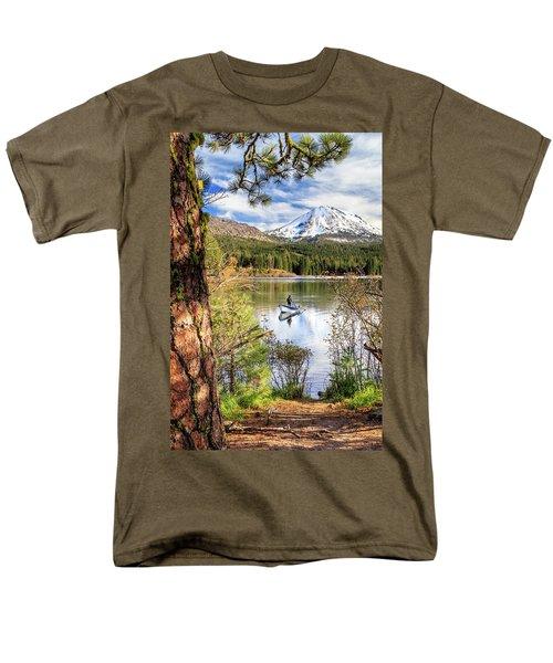 Fishing In Manzanita Lake Men's T-Shirt  (Regular Fit) by James Eddy