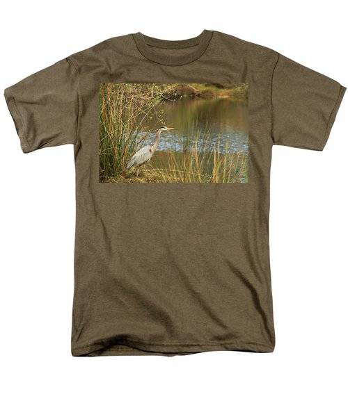 Men's T-Shirt  (Regular Fit) featuring the photograph Fishing Oceano Lagoon by Art Block Collections