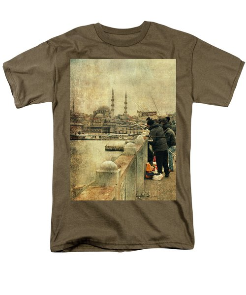Fishing On The Bosphorus Men's T-Shirt  (Regular Fit) by Vittorio Chiampan