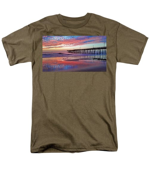 Fishing Pier Sunrise Men's T-Shirt  (Regular Fit) by Suzanne Stout