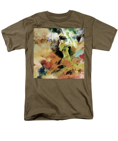 Men's T-Shirt  (Regular Fit) featuring the painting Flamenco 56y3 by Gull G