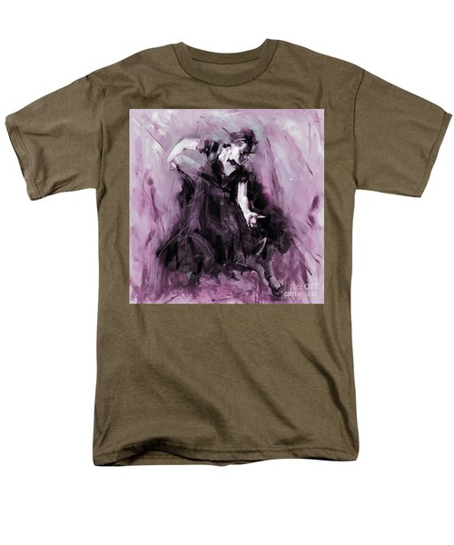 Men's T-Shirt  (Regular Fit) featuring the painting Flamenco Spanish Dance Art by Gull G