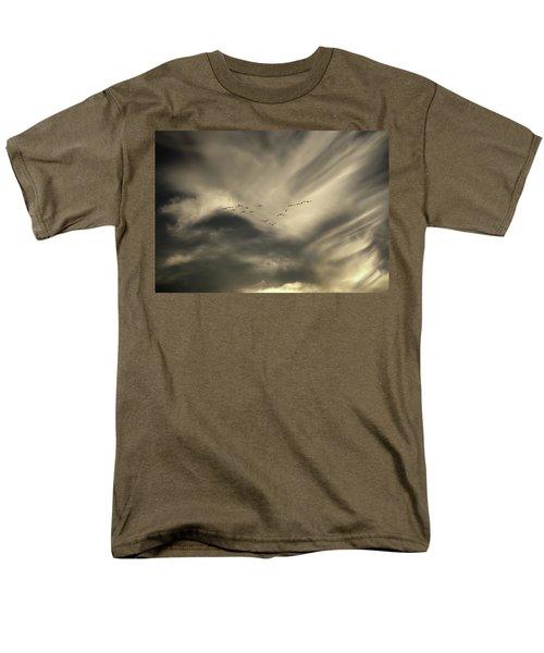 Men's T-Shirt  (Regular Fit) featuring the photograph Flight 016 Westbound by Robert Geary