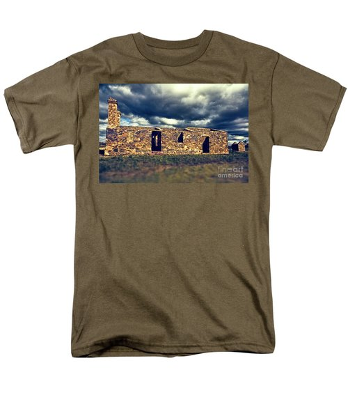 Men's T-Shirt  (Regular Fit) featuring the photograph Flinders Ranges Ruins V2 by Douglas Barnard
