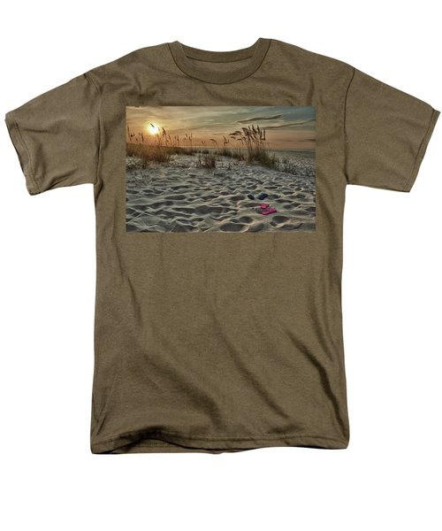 Flipflops On The Beach Men's T-Shirt  (Regular Fit)